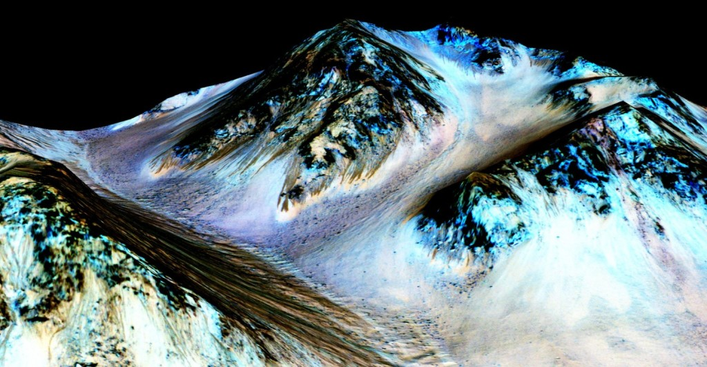 Flussi d'acqua su Marte