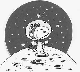 Snoopy on Moon