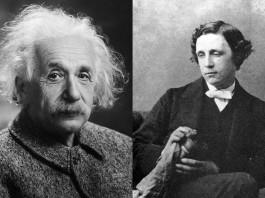 Albert Einstein e Lewis Carroll