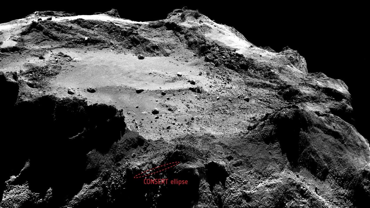 Zona atterraggio Philae