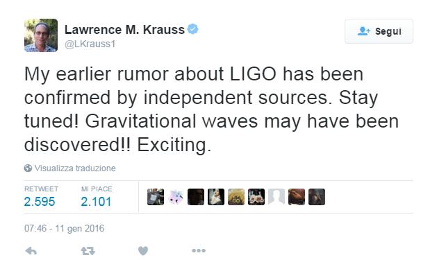 Lawrence M. Krauss - Tweet