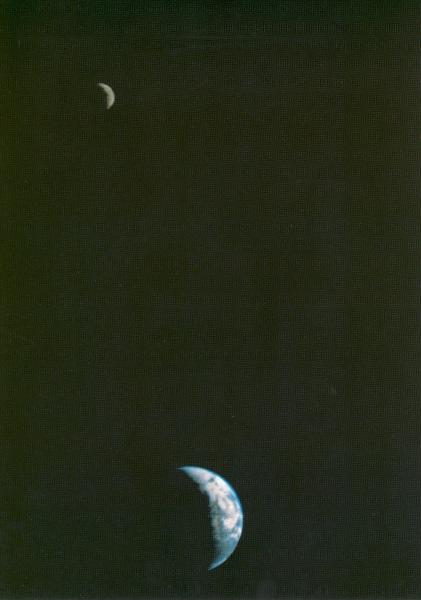 Terra e Luna viste da Voyager 1