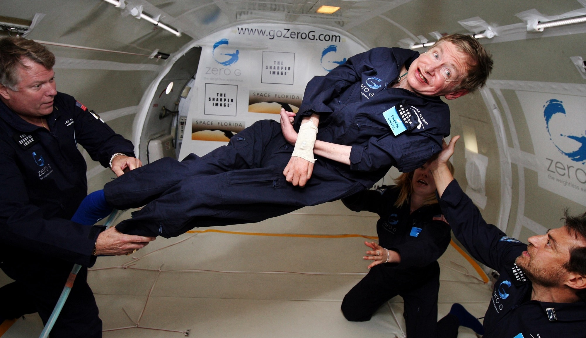 Stephen Hawking in zero g