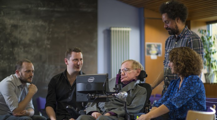 Stephen Hawking and team