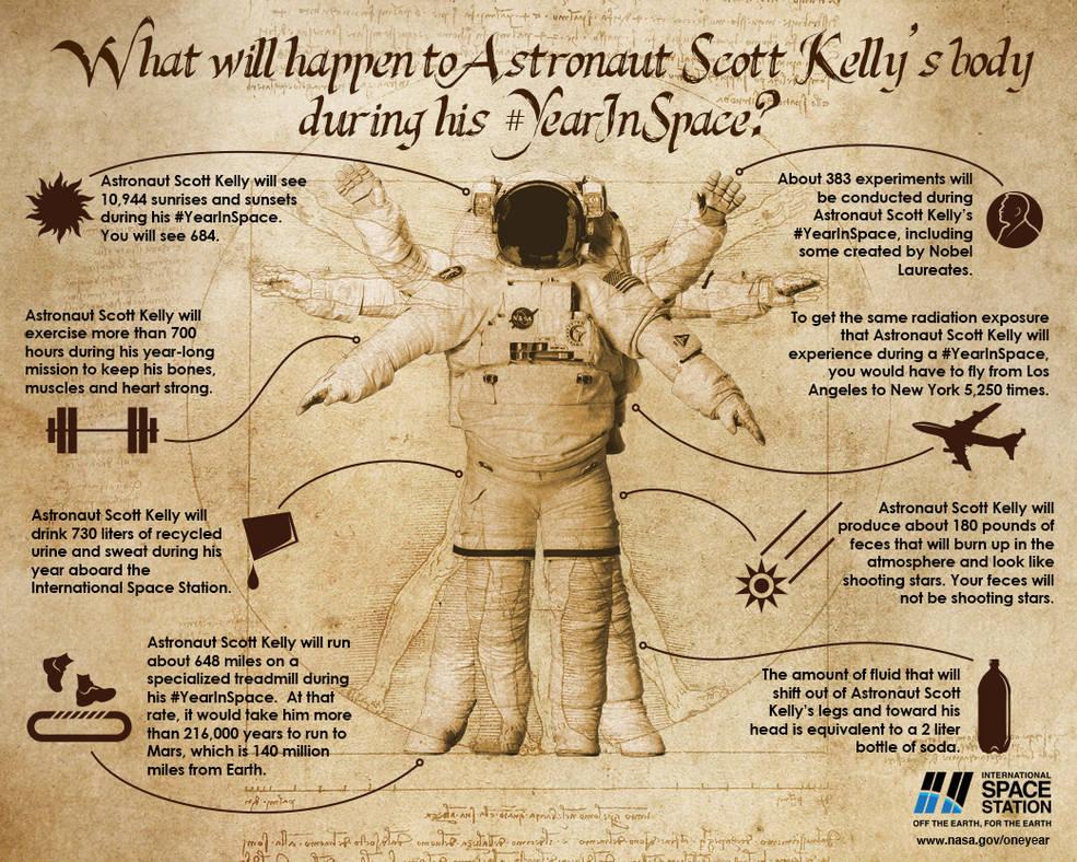 Tutto ciò che è accaduto al corpo di Scott durante il suo anno in orbita.