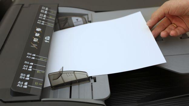 Stampante e fogli di carta