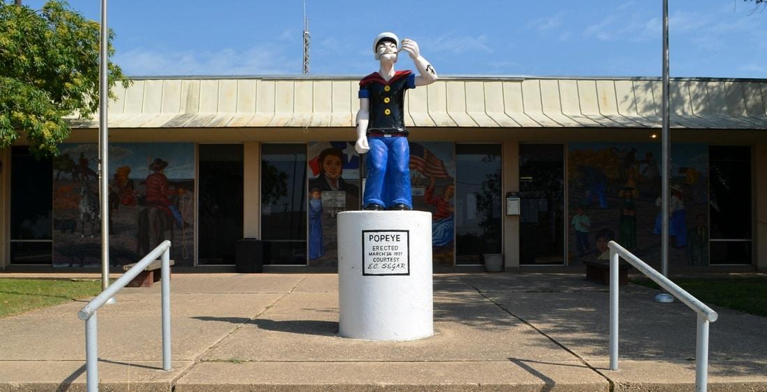Statua di Popeye a Crystal City