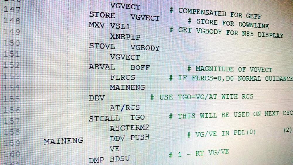 Apollo 11 software code