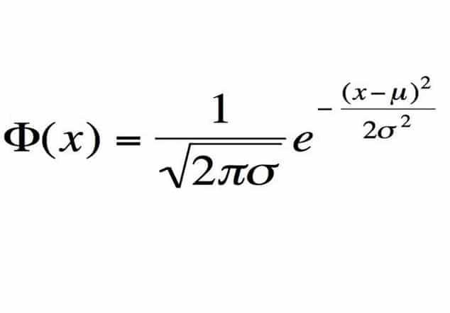 formula distribuzione normale-gauss