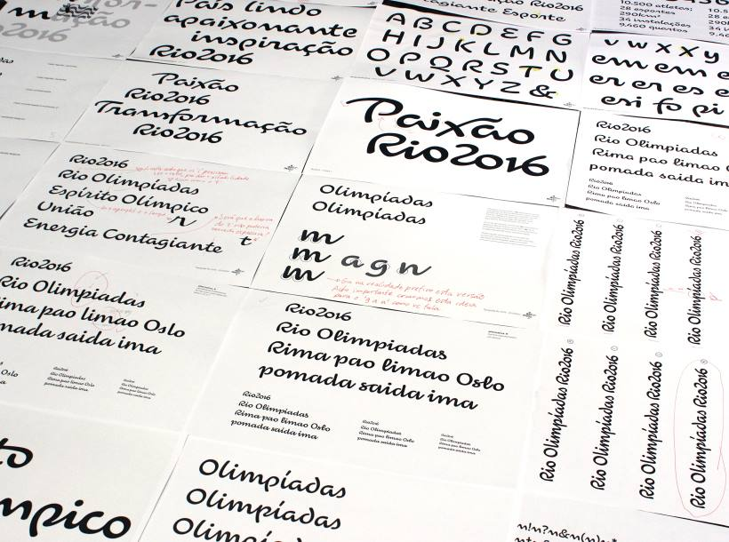 Font for Rio 2016 Olympic games