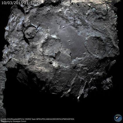 La superficie della cometa 67P/Churyumov–Gerasimenko