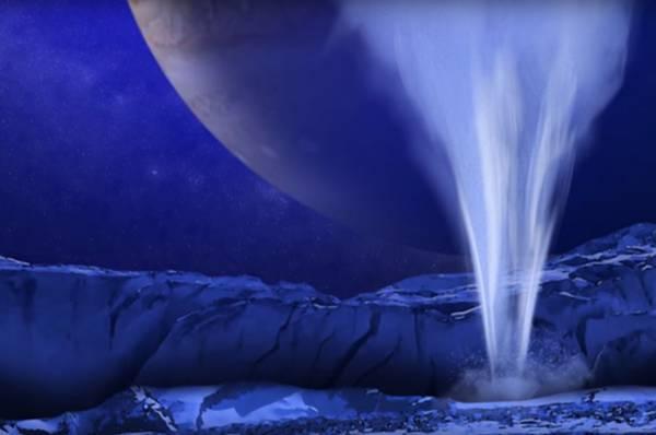 I geyser trovati sono alti circa 200 chilometri. Credits: NASA Goddard Space Center.