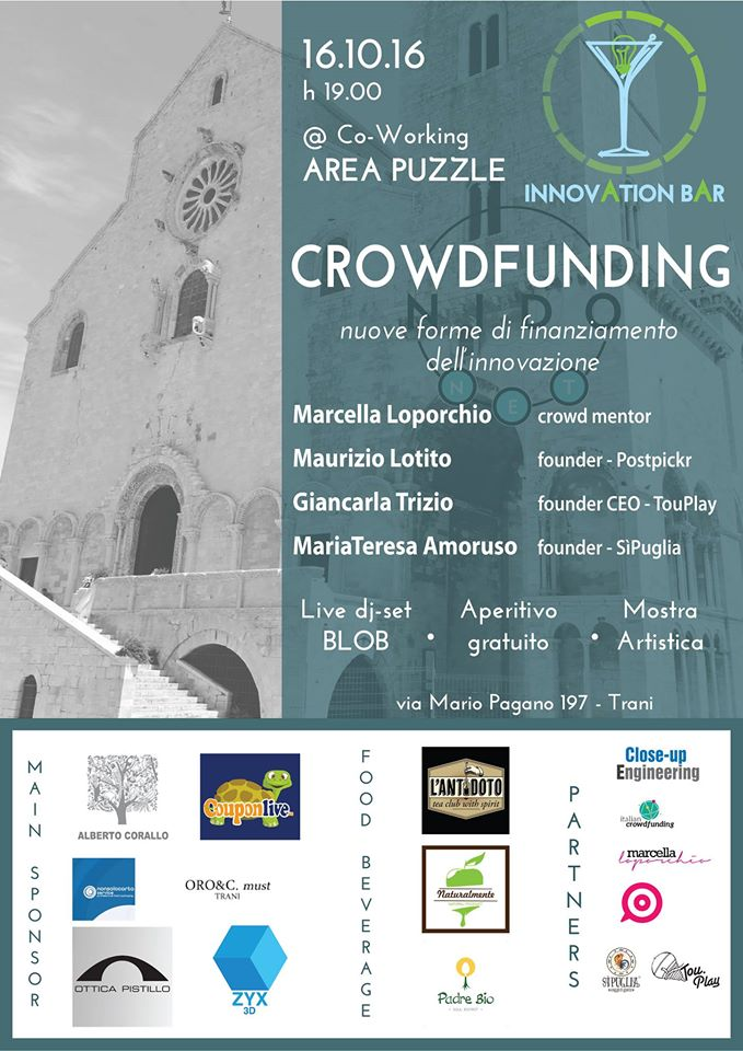 NidoNet e l'Innovation Bar: crowdfunding