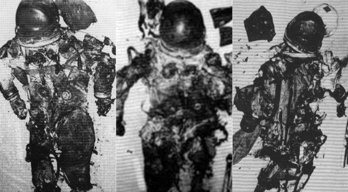 ute carbonizzate dell'Apollo 1
